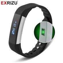 Exrizu K плюс OLED Нажатием кнопки Bluetooth динамический монитор сердечного ритма Смарт фитнес трекер браслеты для IOS телефона Android
