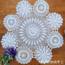 2014 new fashion Zakka crochet round table cloth wedding tablecloth cover stripe tablecloth lace table runner for home decor