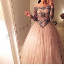 Sexy Lace Off the Shoulder Evening Dress Long 2015 New Arrival Formal Dresses