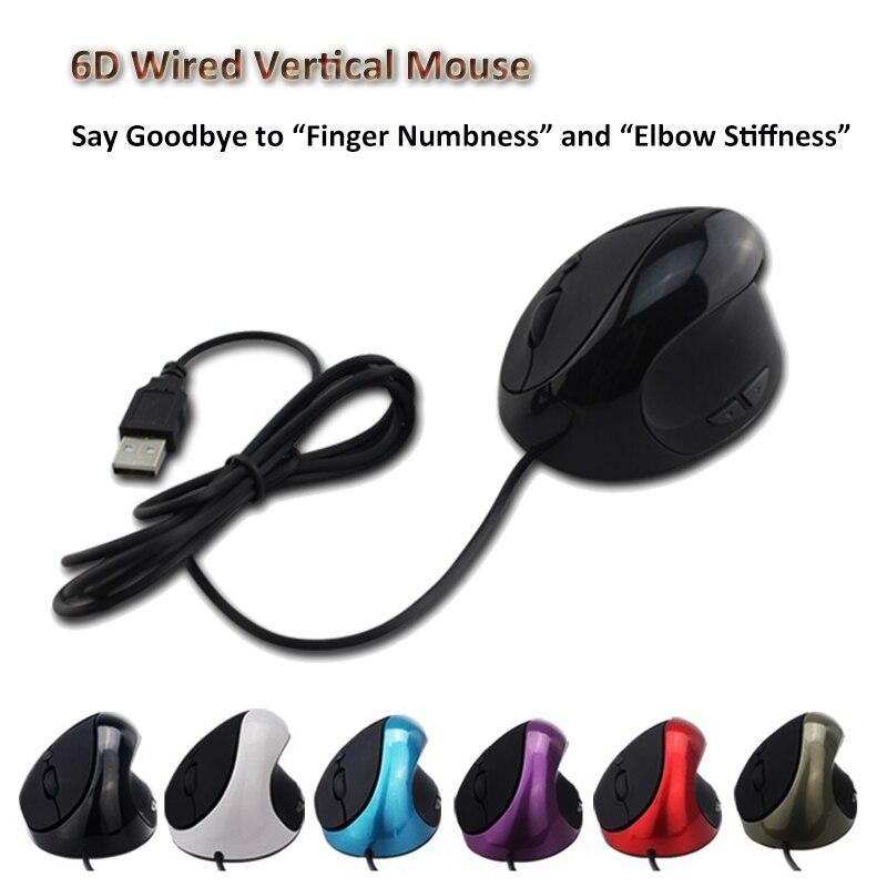 Hohe Qualität 6 Tasten USB Verdrahtete Optische Mäuse Ergonomische ...