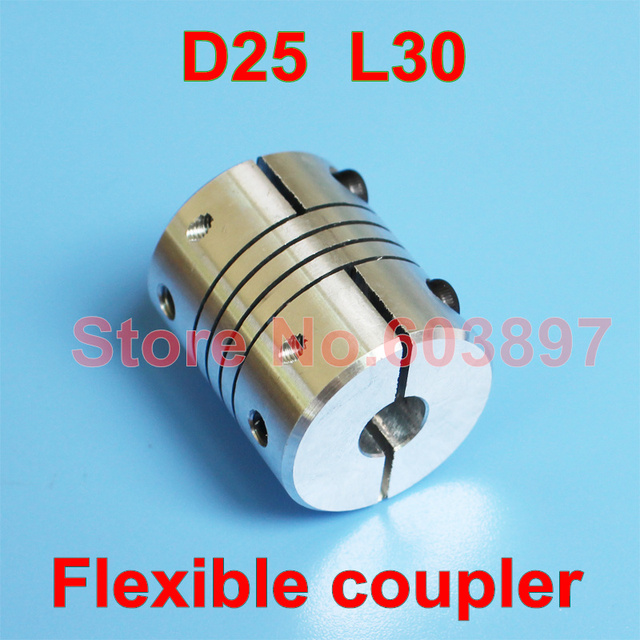 US $1 6 |Shaft Coupler Flexible Coupling 8mm 10mm D25 L30 for CNC 3D  printer stepper motor 5/6/8/10/12/12 7mm-in Shaft Couplings from Home  Improvement