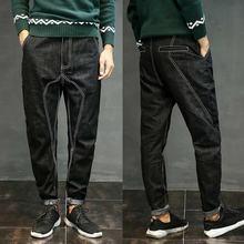Мужские джинсы шаровары в японском стиле Свободные мешковатые