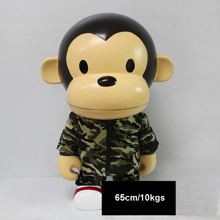 Vinyl Doll Oversized bape aape ape With camouflage clothes Bearbrick Be@rbrick DIY OriginalFake KAWS Dolls toys 65cm 10KG high quality oversize 52cm bearbrick be rbrick matt diy pvc action figure toys bearbrick blocks vinyl doll 3 color optional