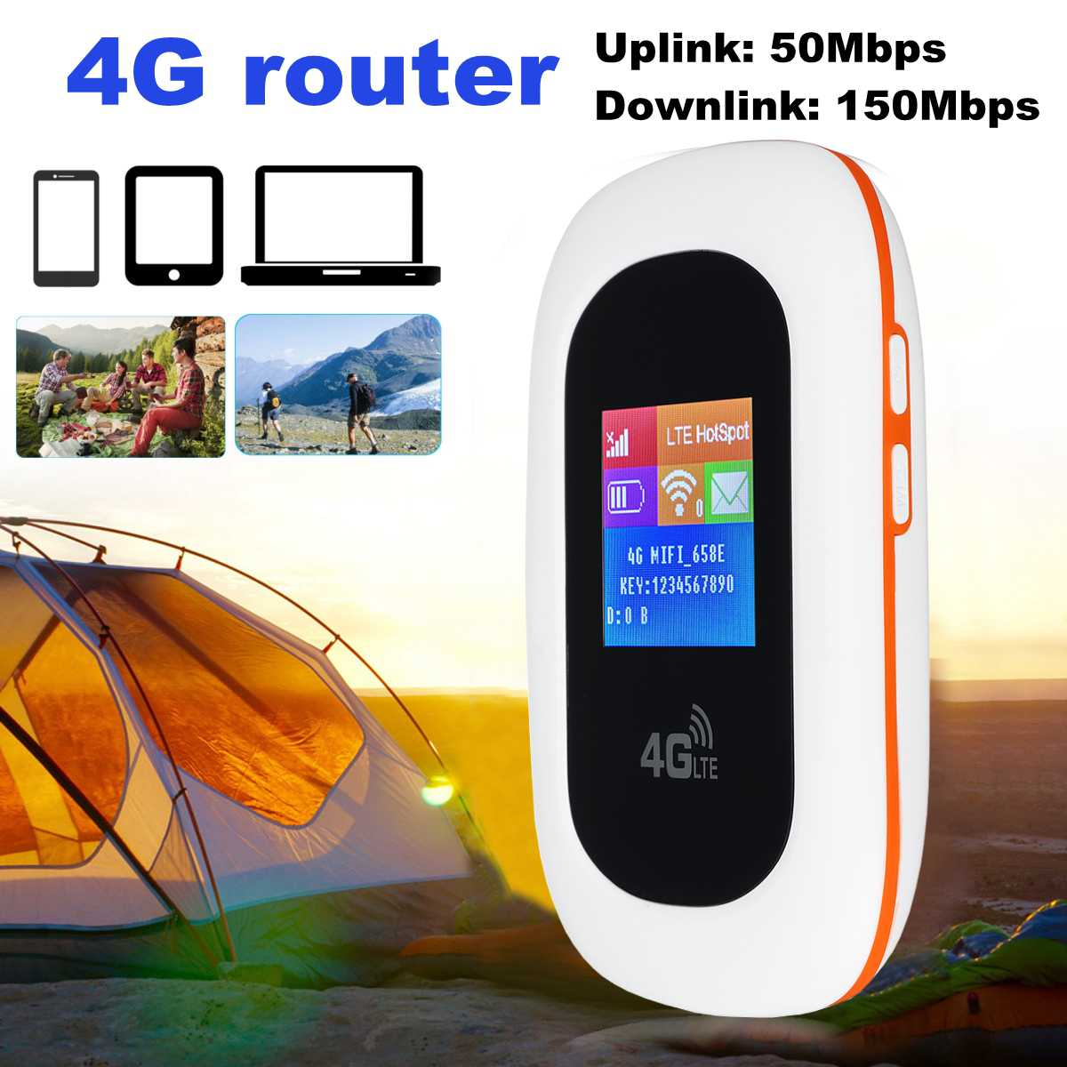 4G WIFI Router Mobile WiFi LTE EDGE HSPA GPRS GSM Travel Partner Wireless Pocket Mobile Wi-Fi Router With SIM Card Slot