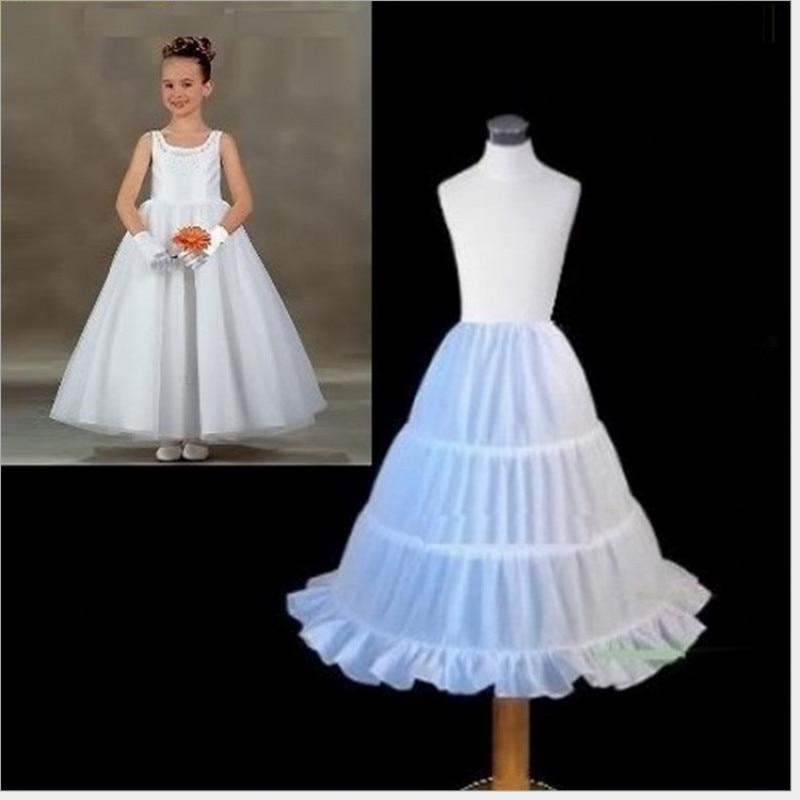 Children Petticoat  Wedding Underskirt 3 Hoops Ball Gown Crinoline Kids Bridal Petticoat for Flower Girl Dress