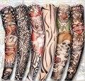 50 unids nuevo adulto de conducir de protección solar manga del tatuaje del brazo de ciclo fresco Elástico escorpión del flash del tatuaje temporal mangas falsas del tatuaje