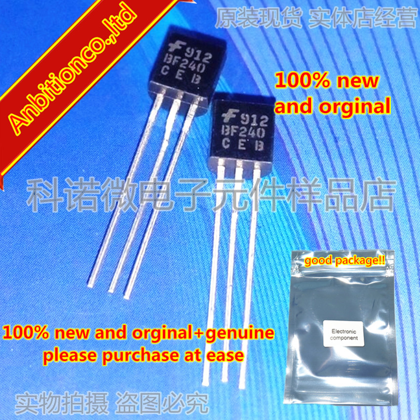 10pcs 100% New And Orginal BF240 F240 TO-92 AM/FM Transistor In Stock