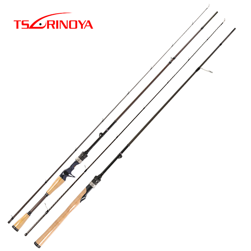 TSURINOYA ELITE II Lure Fishing Rod 1.95m 2 Section Spinning Rod or Casting Rod L Power Varas De Pesca Carbon Fiber Fishing Pole-in Fishing Rods from Sports & Entertainment    1