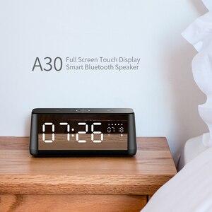 Image 2 - MIFA A30 TWS אלחוטי נייד מתכת מלא מסך תצוגת Bluetooth רמקול 30W כוח OSD מגע בקרת רמקולים עם מעורר שעון