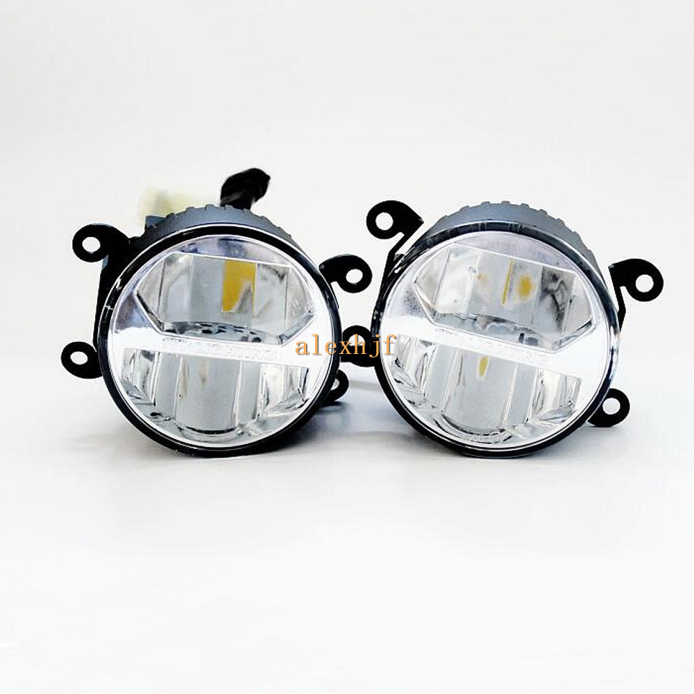 Yeats 1400LM 24W LED Fog Lamp Case For Ford Focus Pick-UP Bantam Transit etc, High-beam +Low-beam+4W 60LM Day Running Lights DRL