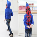 Hot Boys Spider Man Hoodie jacket 2017 New Fashion Autumn Children Cartoon Clothes Coats Kids Cotton Spiderman Active Outerwear