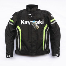 2018 Motorcycle Moto GP for KAWASAKI Jacket Racing Clothing Thermal Removable Liner Off-road anti-fall riding suit chaqueta moto цена и фото