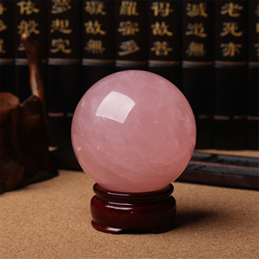 6A Natural Rose stone Mozambique Crystal Healing Big Ball Sphere 70mm