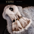 Autumn Winter Women's Real Natural Fox Fur Vest Lady Slim Waistcoat Female Gilet Outerwear VF0566