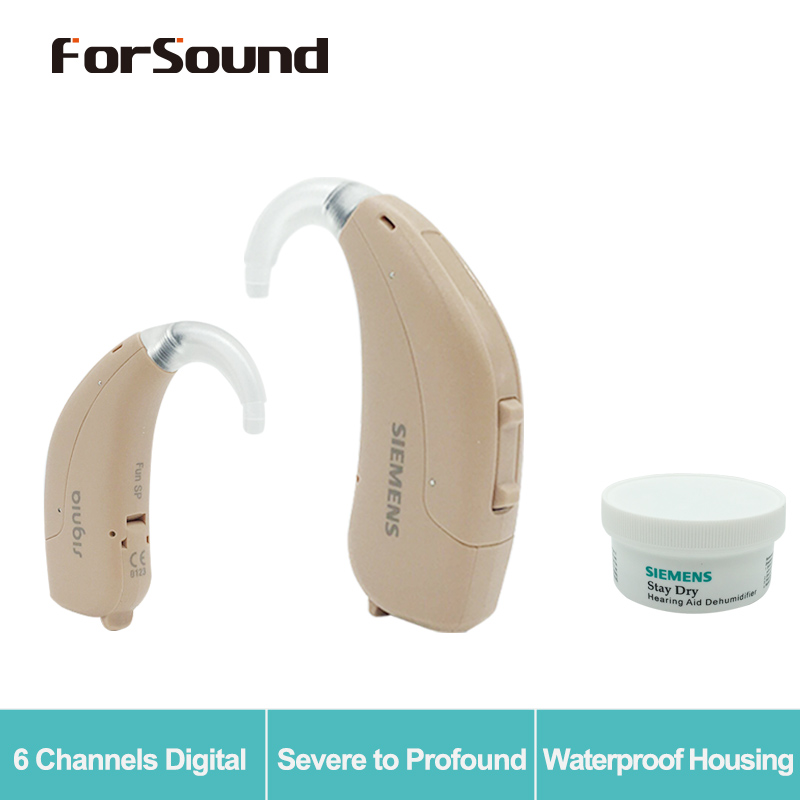 Germany Original Siemens Digital Hearing Aid Fun SP Upgrade Siemens Touching Lotus 23SP 675 Battery with Dry Stay Dryer