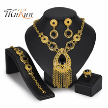 MUKUN 2019 Dubai Gold Color Jewelry Sets Wholesale Fashion African Beads Brand set woman costume accessories jewelry