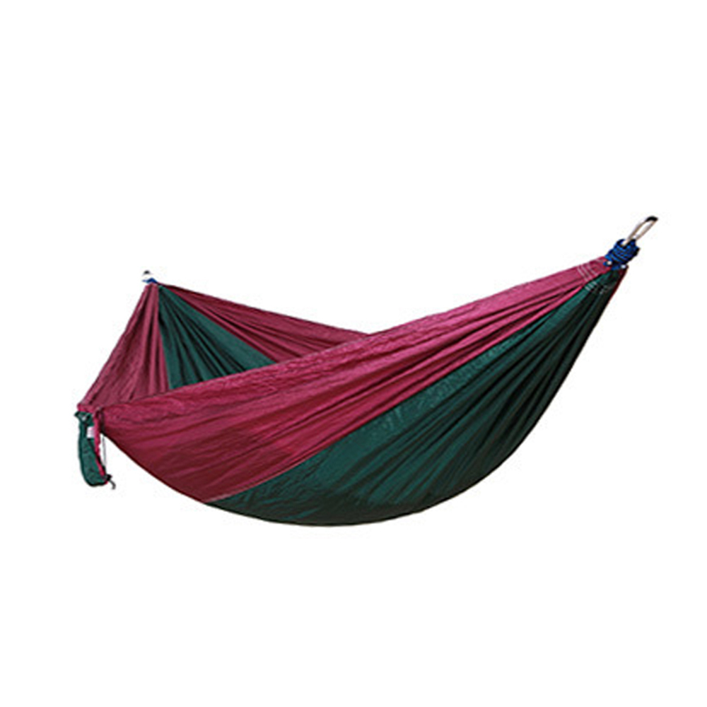 Image 2 - Outdoors Camping Hammock Hanging Swing Sleeping Bed Lightweight Portable Nylon Parachute Double Hammock for Backpacking Travel-in Outdoor Tools from Sports & Entertainment