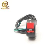 1PCS Universal Motorcycle Headlight Warning Light Switch Button 12V LED Headlight ON OFF Motorbike Handlebar Switch Accessories