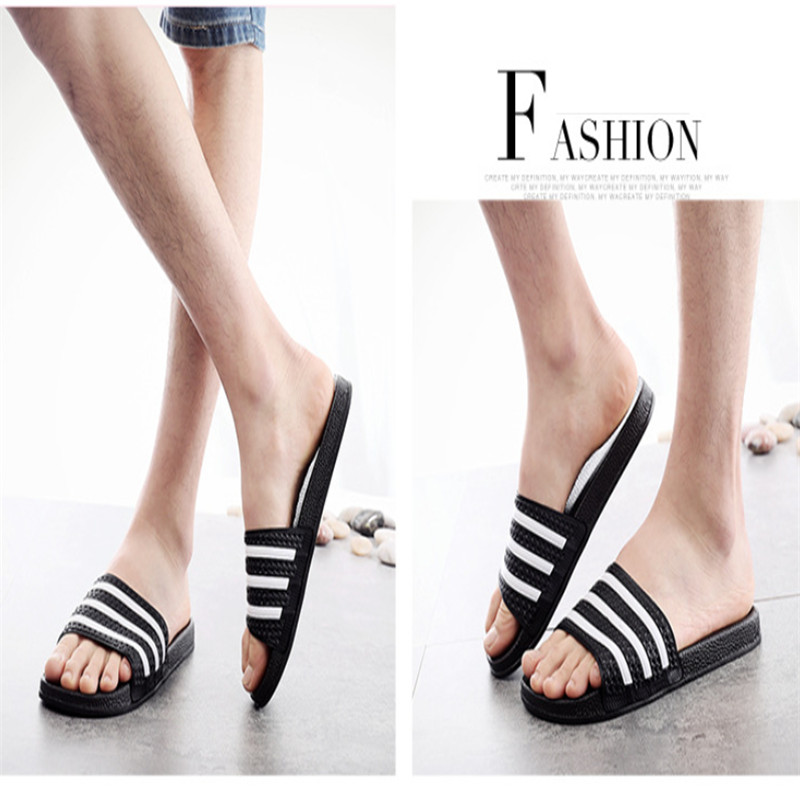 Teen Boys Girls Sandals Shoes Teenage Kids Summer Slippers Man Woman Beach Bath Shoes Home Slippers Casual Stripped PVC Shoes 15