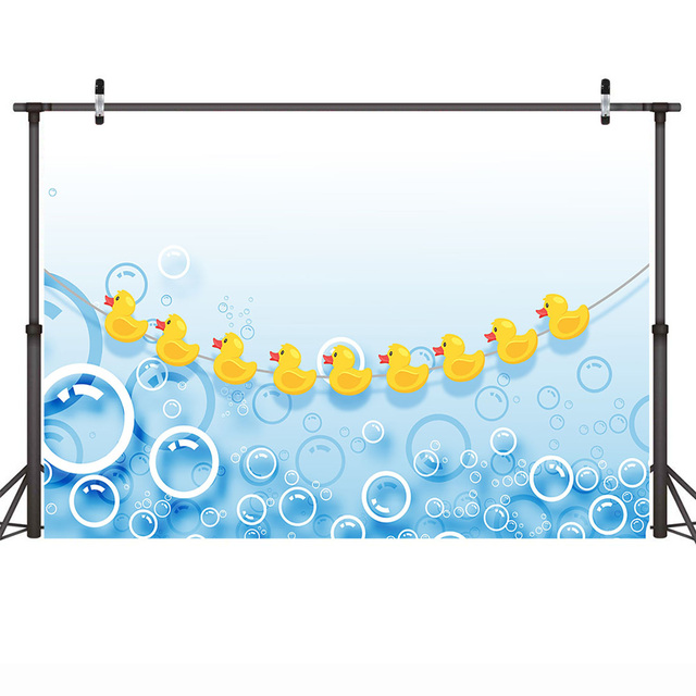Yellow Duck Background Cartoon Photographic Backdrops for Children Newborn Baby Shower Backgrounds Photo Booth