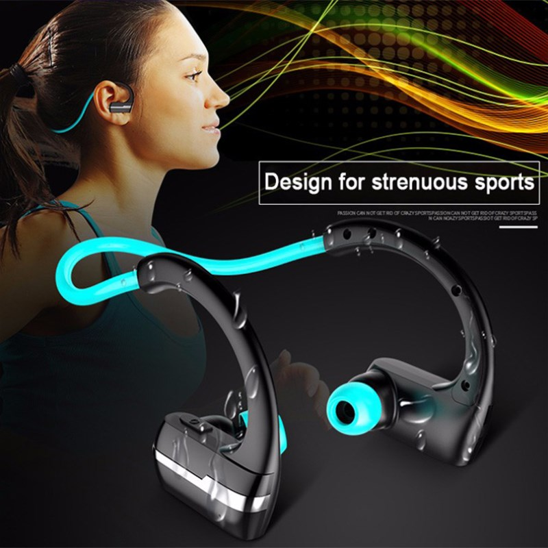 P9 Bluetooth 4.1 Headset IPX4 Sweatproof Stereo Music Earbuds Wireless Headphone HD Mic Earphone For Phone hbs 760 bluetooth 4 0 headset headphone wireless stereo hifi handsfree neckband sweatproof sport earphone earbuds for call music
