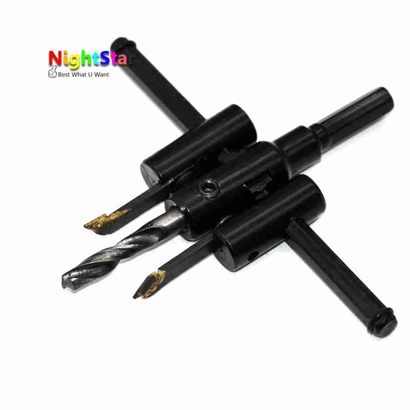 hole saw drill bit adjustable. adjustable metal wood circle hole saw drill bit cutter kit diy tool 30mm 120mm black alloy blade-in from home improvement on aliexpress.com