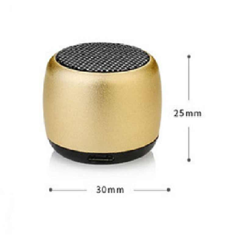 Metal Wireless Bluetooth Speaker with Microphone Portable Mini Super Bass Subwoofer Stereo Music Speaker