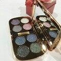 Moda cores Profissional maquiagem beleza sombra de olho shimmer Diamond sombra Duradoura à prova d' água maquiagem com escova S468