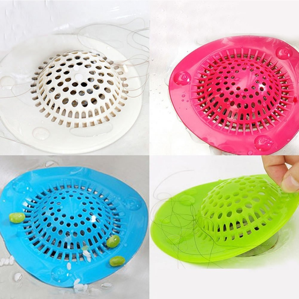 bathroom shower drain hair catcher stopper kitchen bathtub floor sink strainer filter cover rubber trap outfall