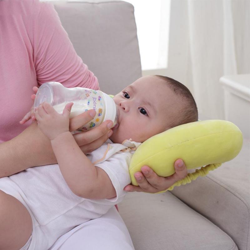 Baby Soft Cotton Arm feeding Pillow Lovely Cartoon Elephant Shape Pillow Sleep Head Positioner Anti-rollover Sleep Bedding B4