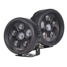 """1 пара 18 Вт 3,"""" круглый светодиодный рабочий светильник для внедорожного вождения Pod Точечный светильник противотуманный светильник s для Jeep SUV ATV лодки автомобили грузовики, автопогрузчик, поезда"""