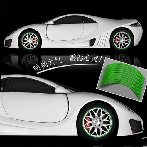Coche reflectante de borde de rueda para Fiat 500 tipo punto ...