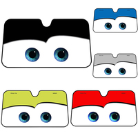Cartoon Car Visor 130 X 70 Auto Solar Protection Foils Eyes Car Front Window Windshield Visor