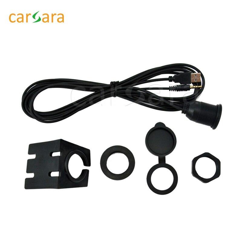 Universal Car AUX cavo adattatore USB cavo, 1 pz 3.5mm femmina cavo a 2 RCA maschio cavo USB, Aux 2 RCA cavo di prolunga