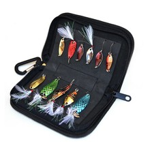 Trulinoya Multi-Purpose Fishing Bag Spinner Baits 15*3*9cm Carp Fishing Lure Bag Ice Fishing Tackle Pesca Spoon Protective Case