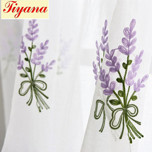Floral pink voile curtain white lavender embroidered tulle bedroom floral pink voile curtain white lavender embroidered tulle bedroom kitchen living room purple tulle window sheer mightylinksfo