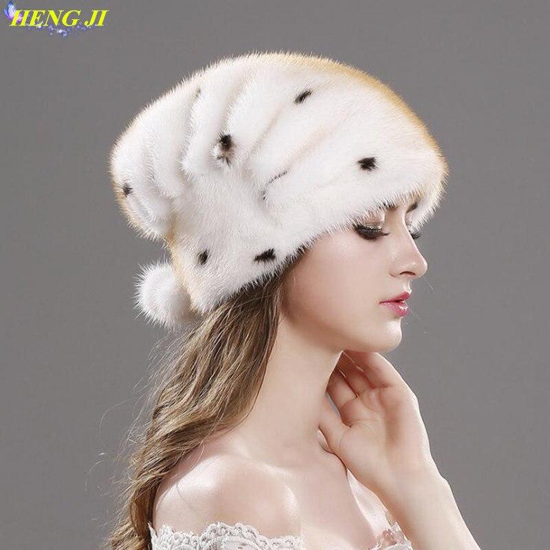 European and American new skin mink fur straw hat, elegant noble, mink fur cap, fashion warm hat, high quality, free shipping european and american 2017 new lychee grain 100