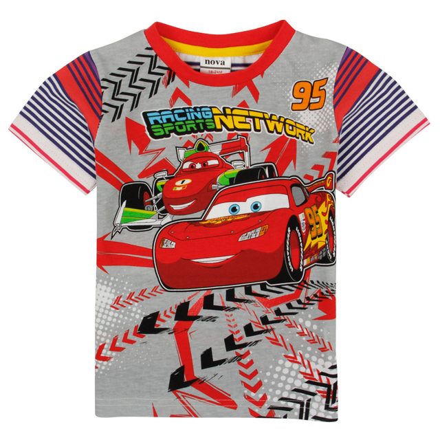 Meninos camiseta verão crianças vestuário nova crianças usam meninos camisetas carros impressos de manga curta roupa do bebê meninos camisas c5060