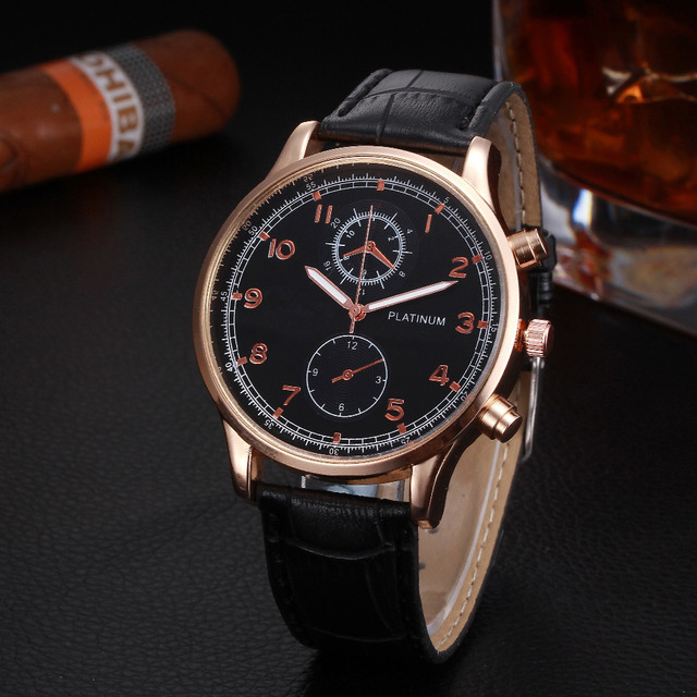 2018 Newly Men's Watch Mens Retro Design Leather Band ...