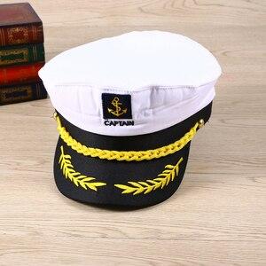 Image 3 - 大人ヨットボート船セーラーキャプテンコスチュームハットキャップ海軍海兵提督ボートスキッパー船セーラーキャプテン男性の女性のため