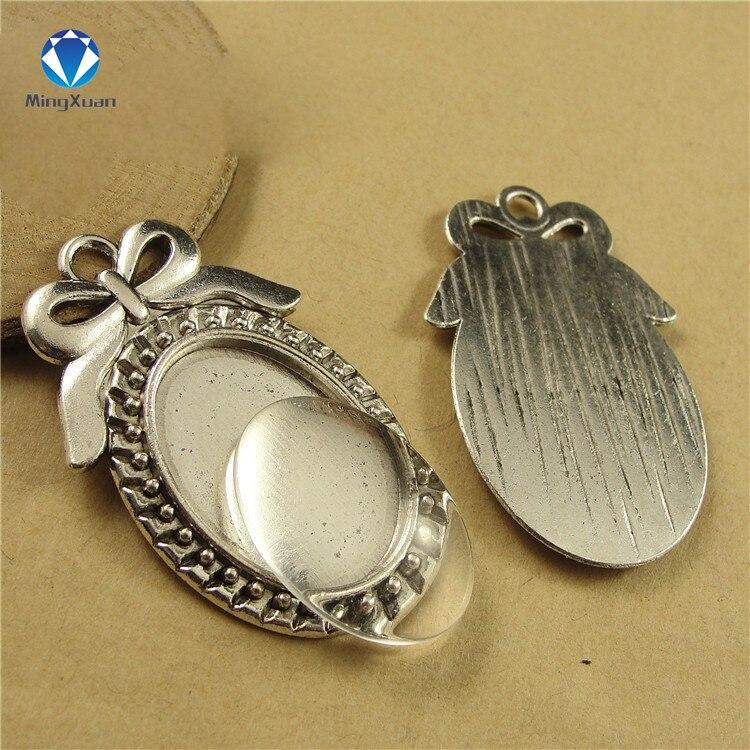 Купить mingxuan 10 шт/лот филигранная бант камея кабошон основа заготовки