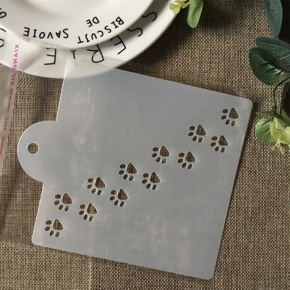 Hot 15cm Cat Dog Paw DIY Layering Stencils Painting Scrapbook Coloring Embossing Album Decorative Card Template