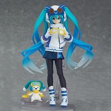 2016 NEW Arrival Figma EX-030 Hatsune Miku Snow Version Kawaii Model Toys Collectible Anime PVC Action Figure toys 0039