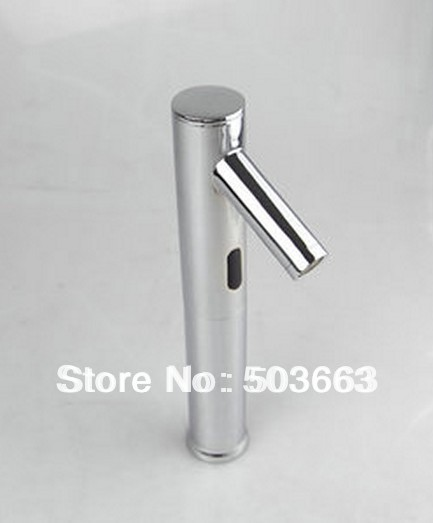 Free Shipping New Style Single Hot&Cold Tap Automatic Sensor Faucets Inductive Basin Sink Water Tap b004S Mixer Tap Faucet free shipping black color basin sink faucet single level hot and cold water copper mixer tap