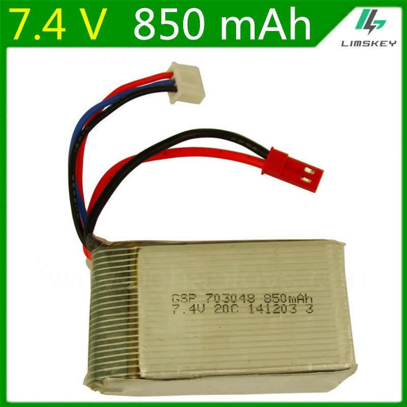 Batterie Lipo 7.4 V 850 mAH pour Udi U829A U829X MJXRC X600 télécommande li-po batterie 7.4 V 850 mAH 20C JST plug 703048
