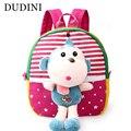 DUDINI Versão Coreana do Bonito Dos desenhos animados das Crianças Mochilas Escolares Animal Prints Backpack Moda Jovem Boneca Crianças Saco Do Bebê