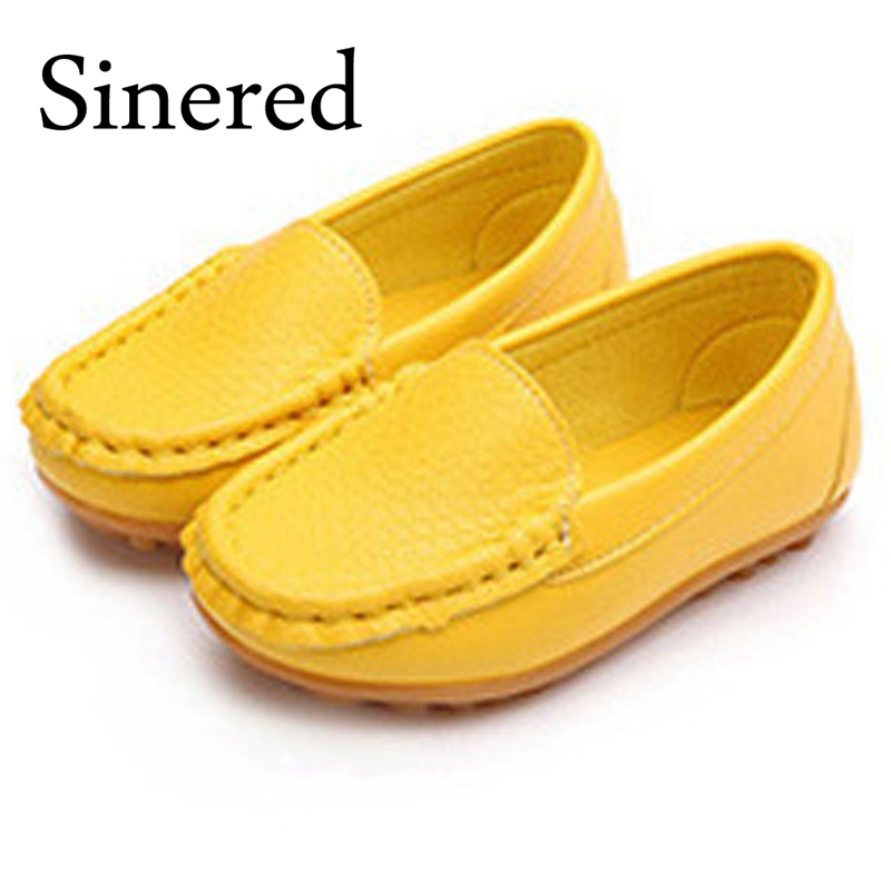 Sinered Boys girls casual single shoes Peas dance shoes for kids lightweight soft bottom princess solid shoes size21-38 No.A185