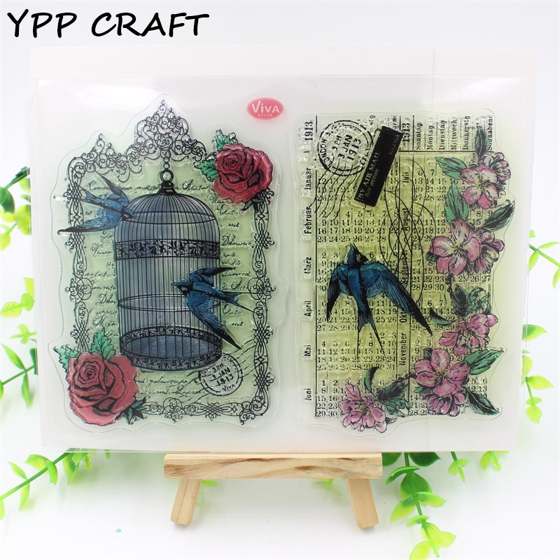 YPP CRAFT Bird cage Transparent Clear Silicone Stamp/Seal for DIY scrapbooking/photo album Decorative clear stamp sheets about lovely baby design transparent clear silicone stamp seal for diy scrapbooking photo album clear stamp paper craft cl 052
