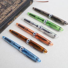 Fountain pen JINHAO 992 Transparent Fountain Pen 0.5mm Stationery Supplies Writing Tools Gift gullor elegant fountain pen jinhao 8802 shell with gift