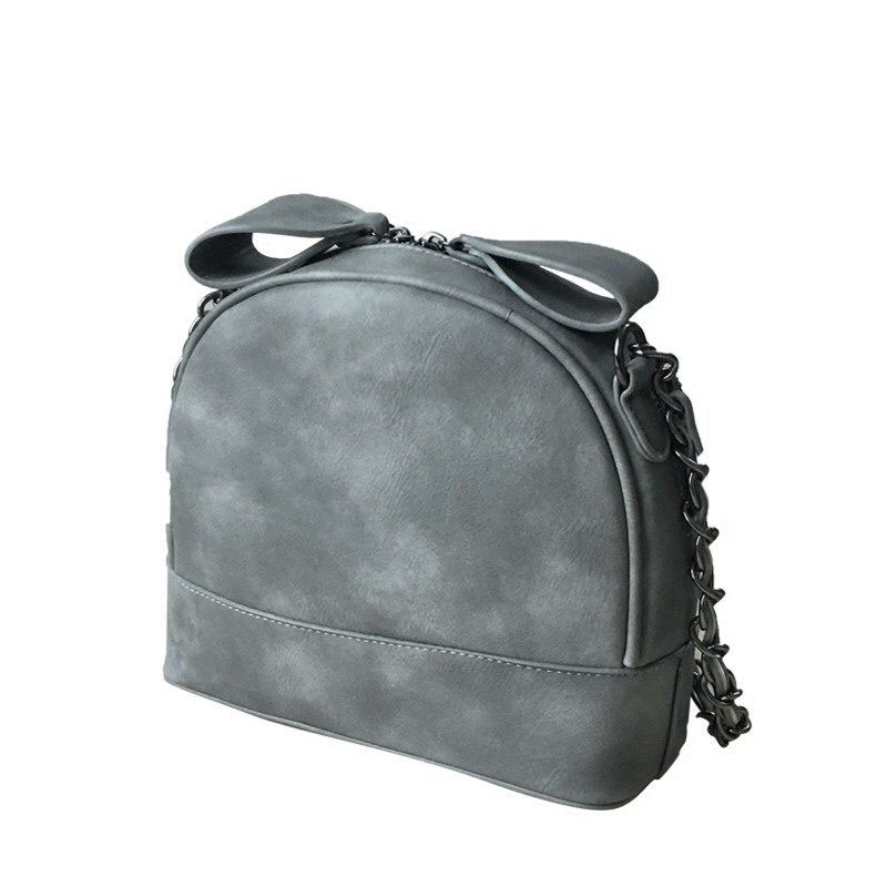 Classic Retro Mini Chain Bag Sweet Style Ladylike Small Shoulder Bag Women Trendy Shell Bag PU